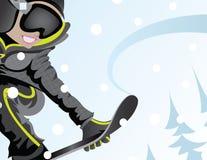 Девушка Snowboard иллюстрация вектора