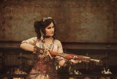 Девушка SteamPunk Стоковая Фотография