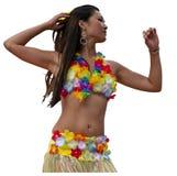 Девушка Tahitian Стоковая Фотография