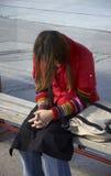 девушка trable Стоковое Изображение RF