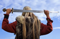 девушка viking стоковое фото