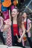 Девушки барабанщиков Taiko Стоковые Изображения