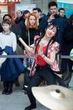 Девушки барабанщиков Taiko Стоковая Фотография RF
