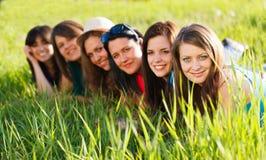 Девушки вне Стоковые Фото