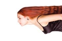 девушки волос детеныши длиной красные Стоковые Изображения