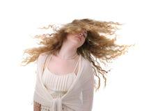 девушки волос детеныши длиной стоковая фотография
