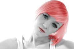 девушки волос красный цвет довольно Стоковые Изображения