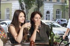 Девушки встречали на обеде Стоковое Изображение