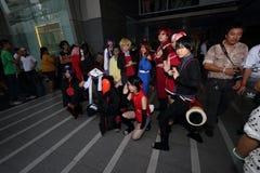 Девушки всхода фотографа cosplay Стоковые Изображения RF