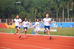 Девушки в гонке Стоковая Фотография