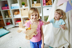 Девушки в детском саде Стоковое Фото