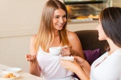 Девушки в кофейне Стоковое Изображение