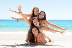 Девушки в летнем времени Стоковое Фото