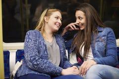 Девушки в метро Стоковые Изображения RF
