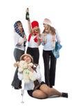 Девушки в Новый Год Стоковое Изображение RF