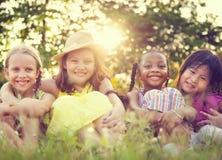 Девушки в парке Стоковое Фото