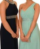 Девушки в платьях выпускного вечера Стоковые Изображения RF