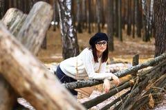 Девушки в древесине Стоковая Фотография RF