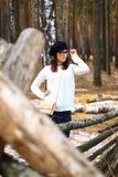 Девушки в древесине Стоковые Фотографии RF