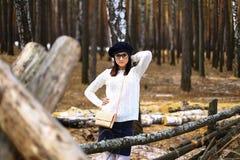 Девушки в древесине Стоковое Изображение