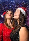 Девушки в снеге Стоковые Изображения RF