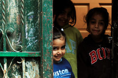 Девушки в улице Рамалла Стоковая Фотография RF