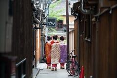 Девушки гейши в Японии Стоковые Фото