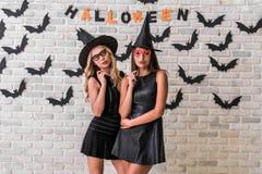 Девушки готовые для партии хеллоуина Стоковое Изображение RF
