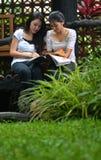 Девушки деятельность и приятельство Стоковое фото RF