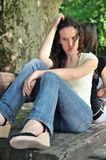 девушки друзей конфликта подростковые Стоковое Изображение RF