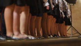 Девушки детей choir - репетиция академичной песни Стоковая Фотография RF