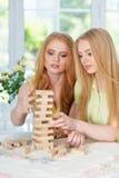 Девушки играя игру таблицы Стоковое Изображение RF
