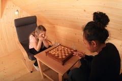 Девушки играя проекты Стоковые Изображения