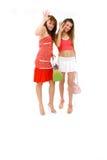 девушки идут получено к Стоковое фото RF