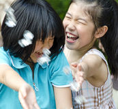 Девушки имея потеху Стоковое фото RF