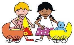 Девушки и игрушка Стоковые Фотографии RF
