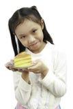 Девушки и торт Стоковое Фото