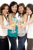 Девушки и Шампань Стоковое Фото