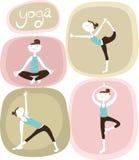 Девушки йоги иллюстрация штока