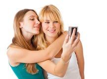 девушки камеры фотографируя подростковые 2 Стоковая Фотография