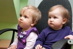 девушки младенца милые стоковое фото