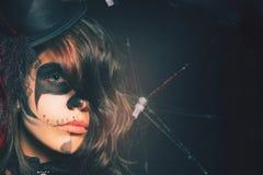Девушки моды празднуя хеллоуин 2016 Костюмы Haloween Стоковое фото RF