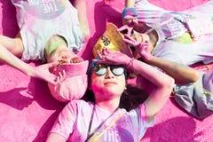 Девушки наслаждаясь бегом цвета Чэнду Стоковое Изображение