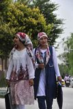 Девушки национальности Uyghur стоковые фото