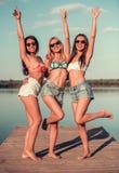 Девушки на море Стоковые Фотографии RF