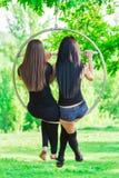 Девушки на обруче Стоковые Фотографии RF