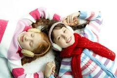 Девушки на снеге Стоковые Фотографии RF