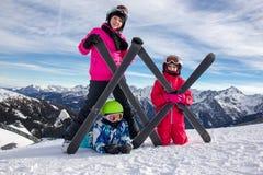 Девушки на снежке Стоковая Фотография
