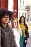 Девушки на улице Стоковые Фото