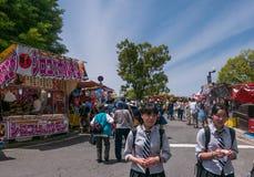 Девушки на фестивале цветка Хиросимы Стоковая Фотография